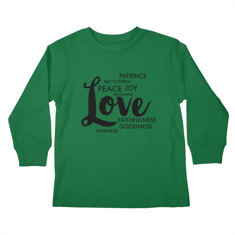 Fruits of the Spirit Kids Longsleeve T-Shirt by Justin Whitcomb's Artist Shop