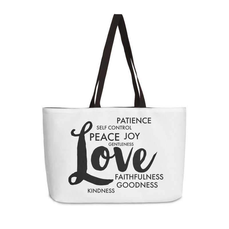 Fruits of the Spirit Accessories Weekender Bag Bag by Justin Whitcomb's Artist Shop