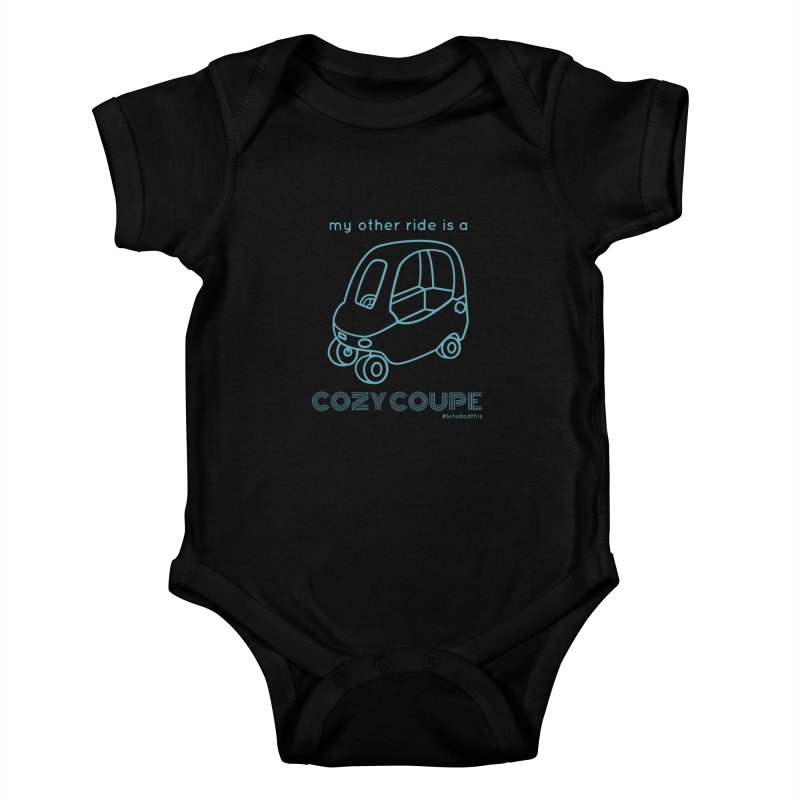 Cozy Coupe Kids Baby Bodysuit by Justin Whitcomb's Artist Shop