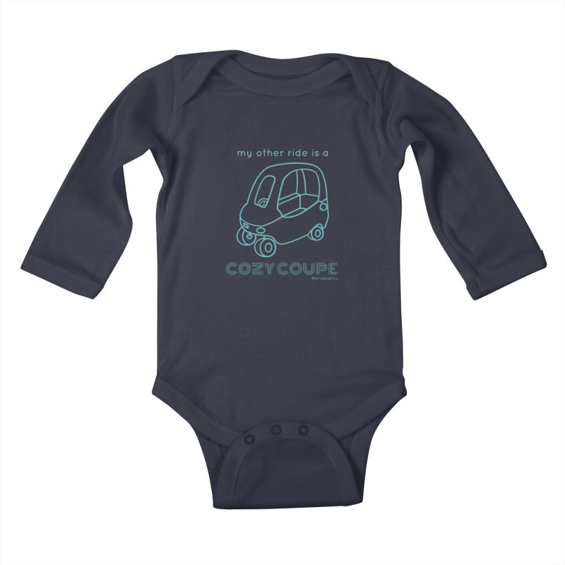 Cozy Coupe Kids Baby Longsleeve Bodysuit by Justin Whitcomb's Artist Shop