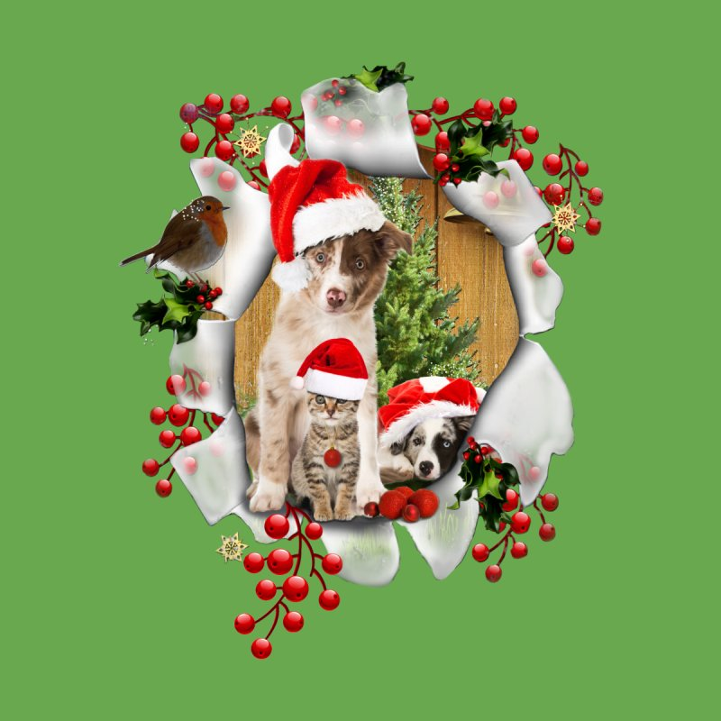 Housepets Christmas Tshirt by NadineMay Artist Shop