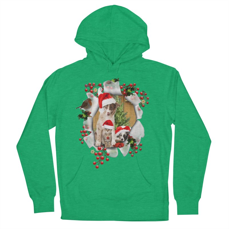 Housepets Christmas Tshirt Women's French Terry Pullover Hoody by NadineMay Artist Shop
