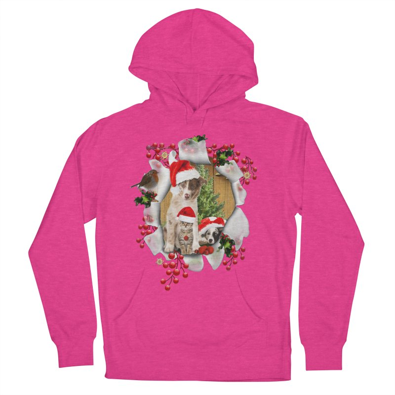Housepets Christmas Tshirt Women's Pullover Hoody by NadineMay Artist Shop