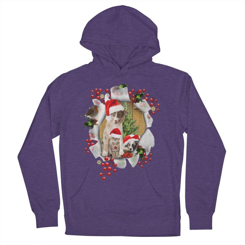 Housepets Christmas Tshirt Men's Pullover Hoody by NadineMay Artist Shop