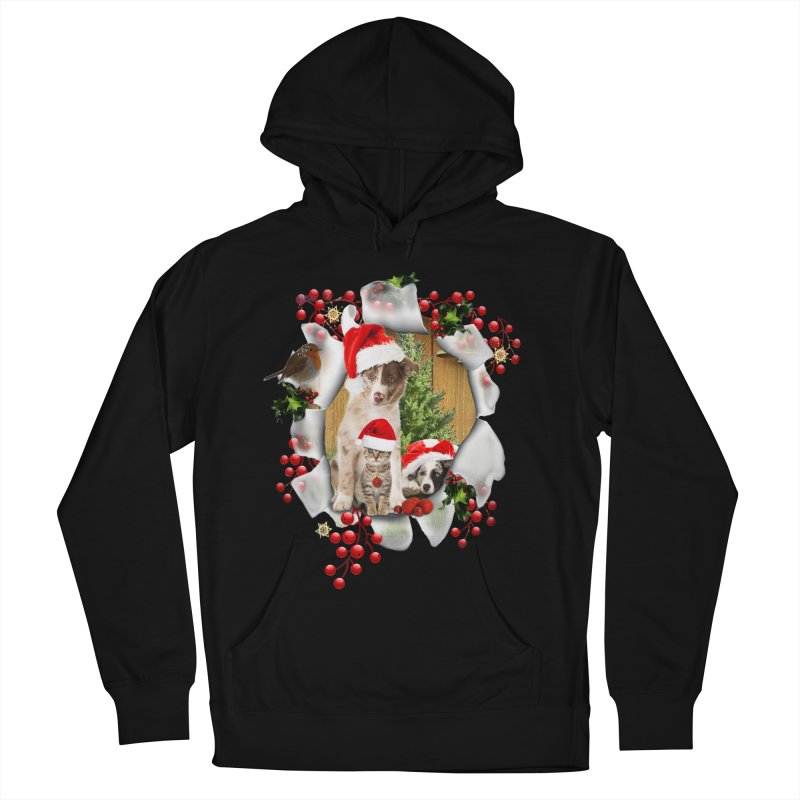 Housepets Christmas Tshirt Men's French Terry Pullover Hoody by NadineMay Artist Shop