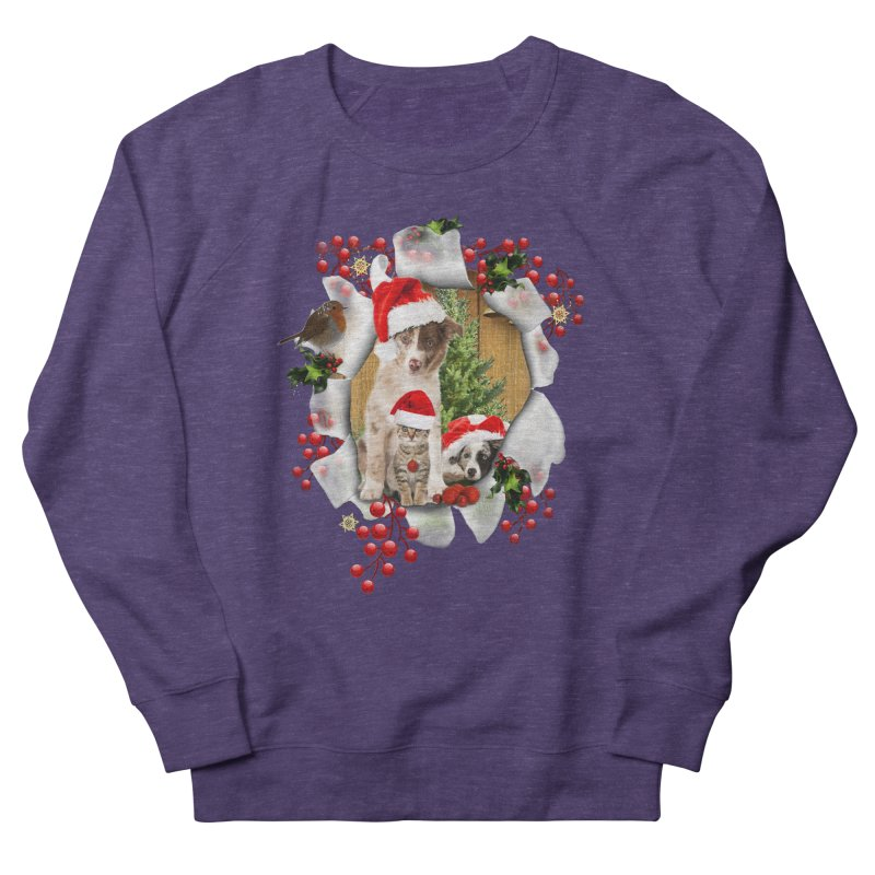 Housepets Christmas Tshirt Women's Sweatshirt by NadineMay Artist Shop