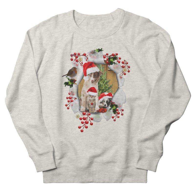 Housepets Christmas Tshirt Women's French Terry Sweatshirt by NadineMay Artist Shop