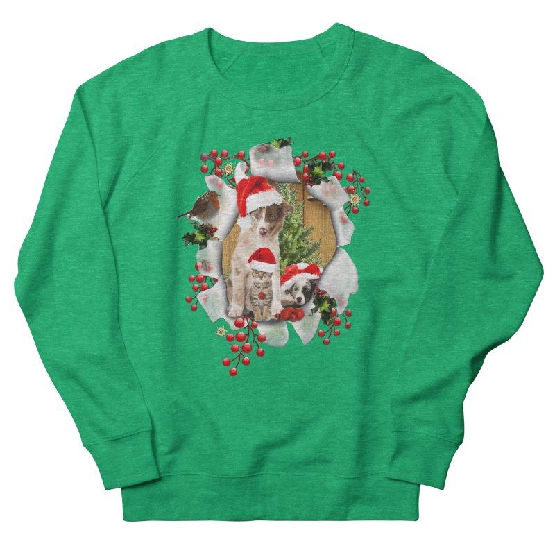 Housepets Christmas Tshirt Men's French Terry Sweatshirt by NadineMay Artist Shop