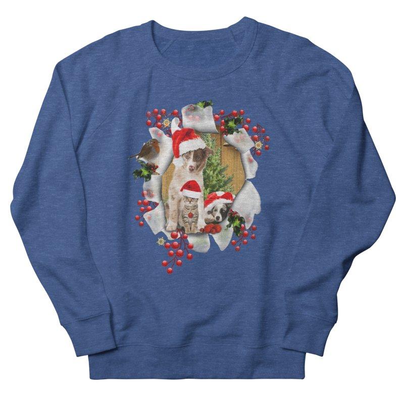 Housepets Christmas Tshirt Men's Sweatshirt by NadineMay Artist Shop