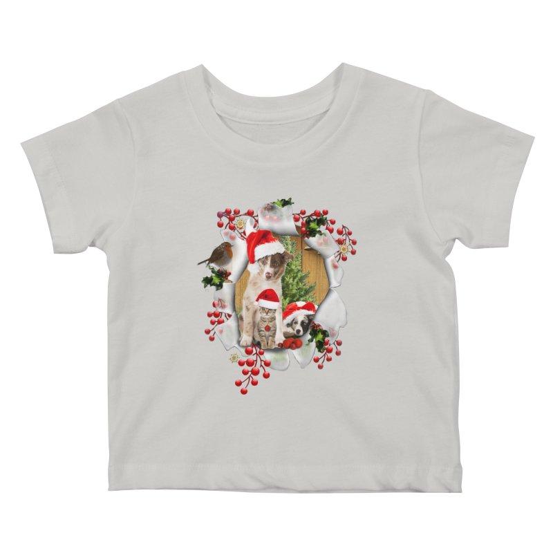 Housepets Christmas Tshirt Kids Baby T-Shirt by NadineMay Artist Shop