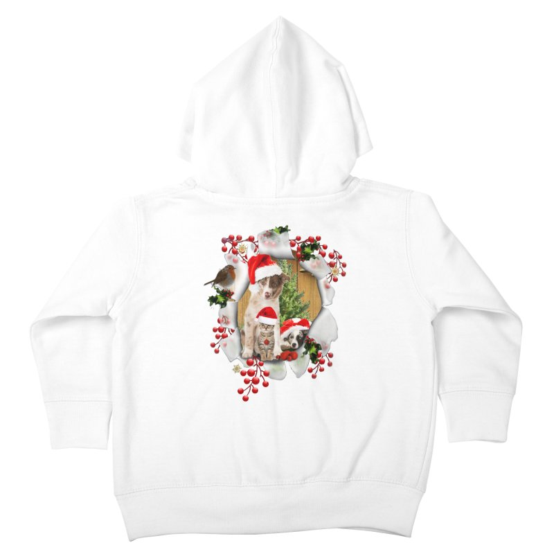 Housepets Christmas Tshirt Kids Toddler Zip-Up Hoody by NadineMay Artist Shop