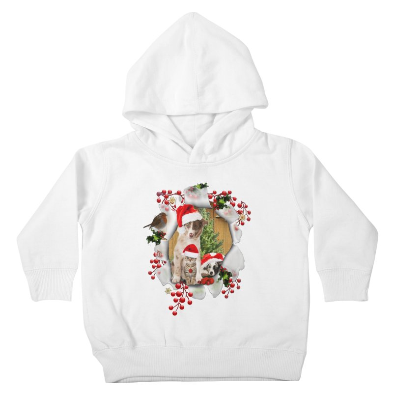 Housepets Christmas Tshirt Kids Toddler Pullover Hoody by NadineMay Artist Shop