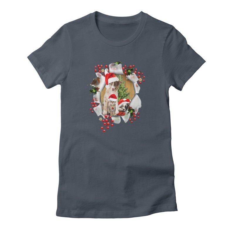 Housepets Christmas Tshirt Women's Lounge Pants by NadineMay Artist Shop