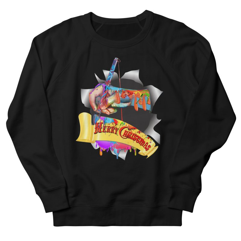 Marry Christmas Artist Women's French Terry Sweatshirt by NadineMay Artist Shop