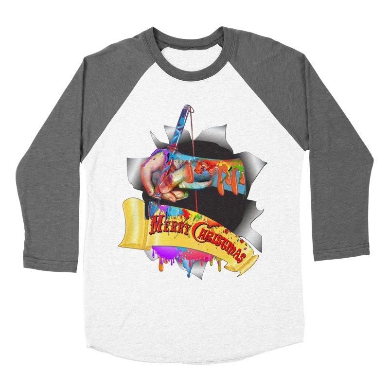 Marry Christmas Artist Women's Baseball Triblend T-Shirt by NadineMay Artist Shop