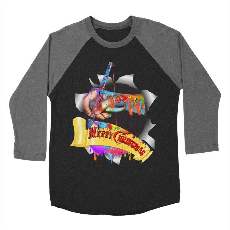 Marry Christmas Artist Women's Baseball Triblend Longsleeve T-Shirt by NadineMay Artist Shop