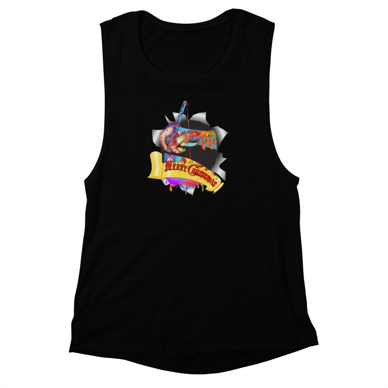 Marry Christmas Artist Women's Muscle Tank by NadineMay Artist Shop