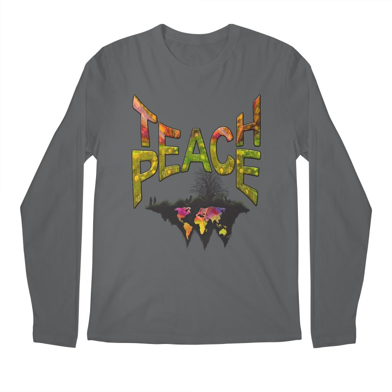 Teach Peace Men's Regular Longsleeve T-Shirt by NadineMay Artist Shop