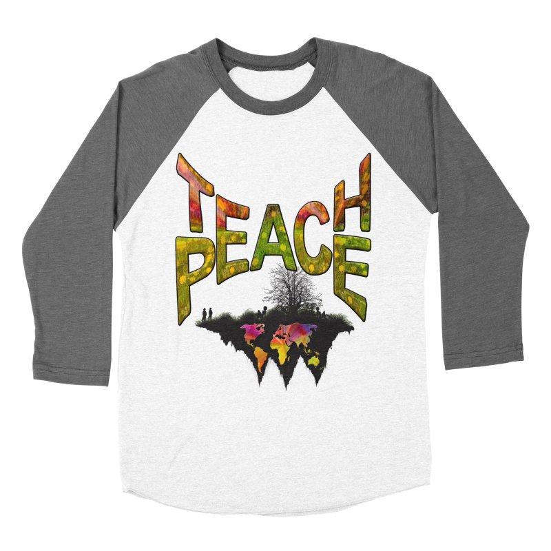 Teach Peace Men's Baseball Triblend T-Shirt by NadineMay Artist Shop