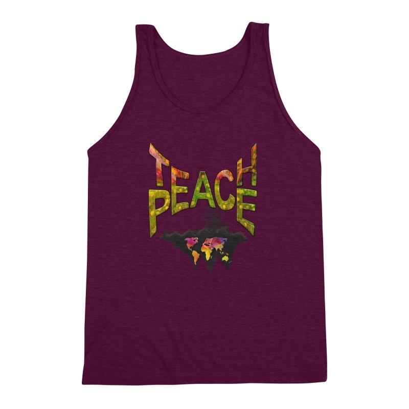 Teach Peace Men's Triblend Tank by NadineMay Artist Shop