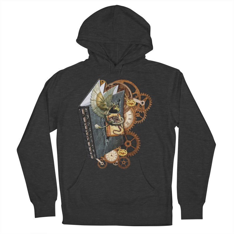 Steampunk Dragon Stories Women's French Terry Pullover Hoody by NadineMay Artist Shop