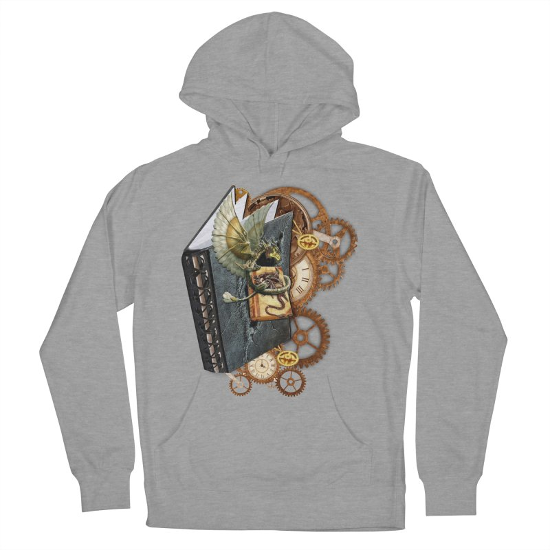 Steampunk Dragon Stories Men's French Terry Pullover Hoody by NadineMay Artist Shop