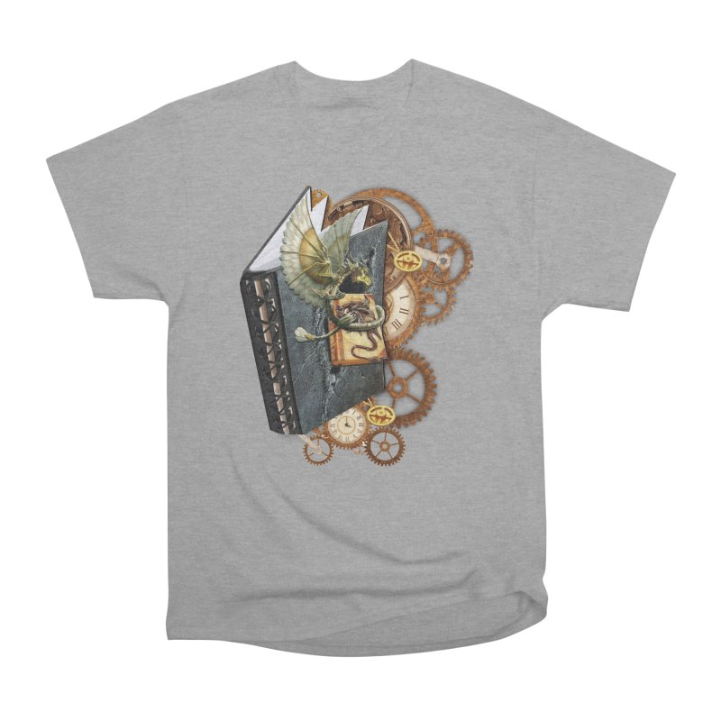 Steampunk Dragon Stories Men's Heavyweight T-Shirt by NadineMay Artist Shop