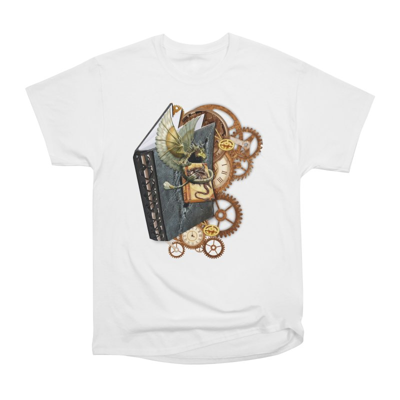 Steampunk Dragon Stories Women's Heavyweight Unisex T-Shirt by NadineMay Artist Shop