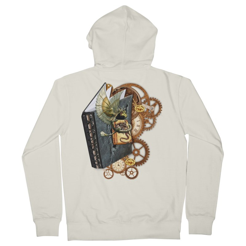 Steampunk Dragon Stories Women's French Terry Zip-Up Hoody by NadineMay Artist Shop