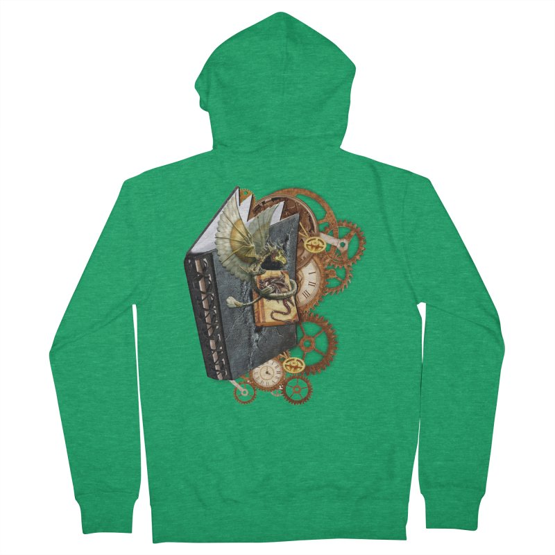 Steampunk Dragon Stories Men's French Terry Zip-Up Hoody by NadineMay Artist Shop