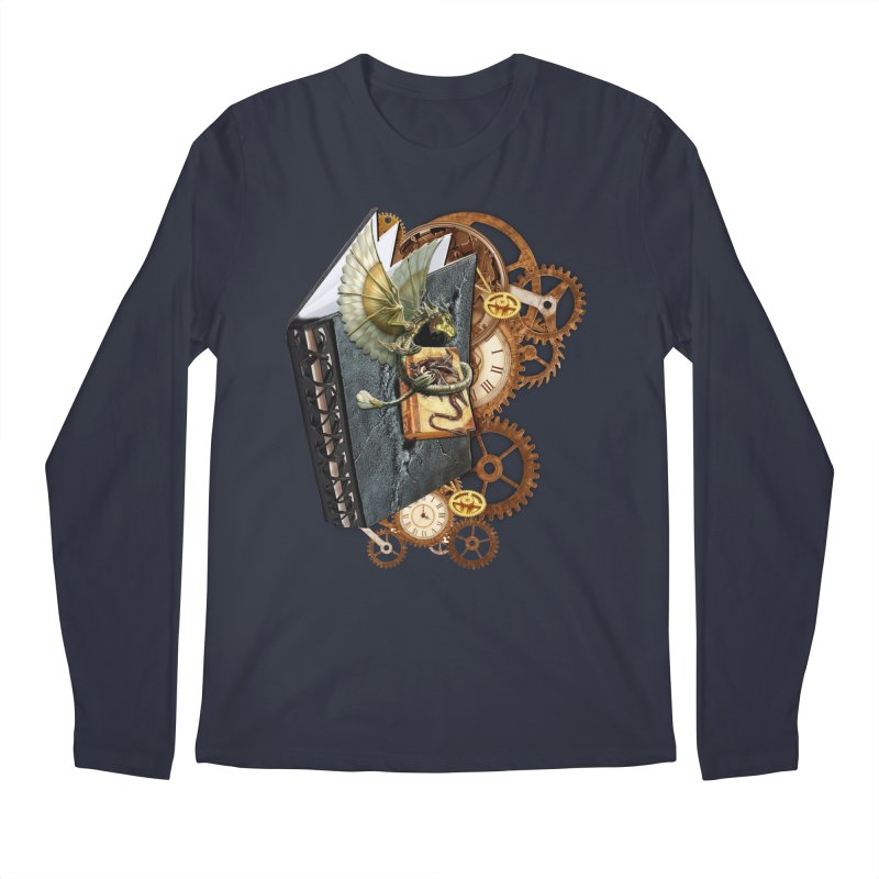 Steampunk Dragon Stories Men's Longsleeve T-Shirt by NadineMay Artist Shop