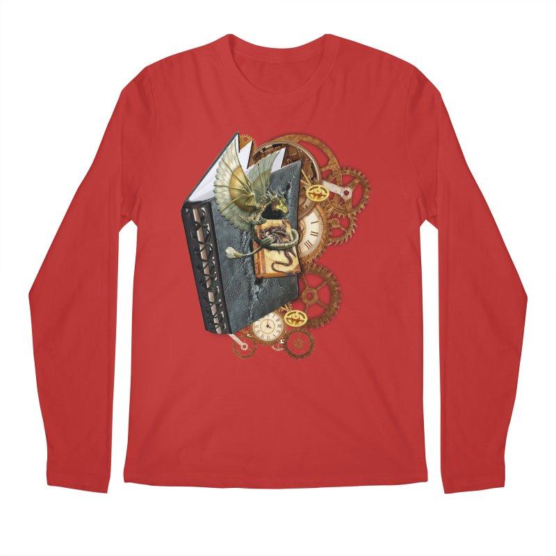 Steampunk Dragon Stories Men's Longsleeve T-Shirt by NadineMay Artist Shop