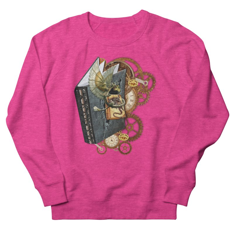 Steampunk Dragon Stories Women's French Terry Sweatshirt by NadineMay Artist Shop