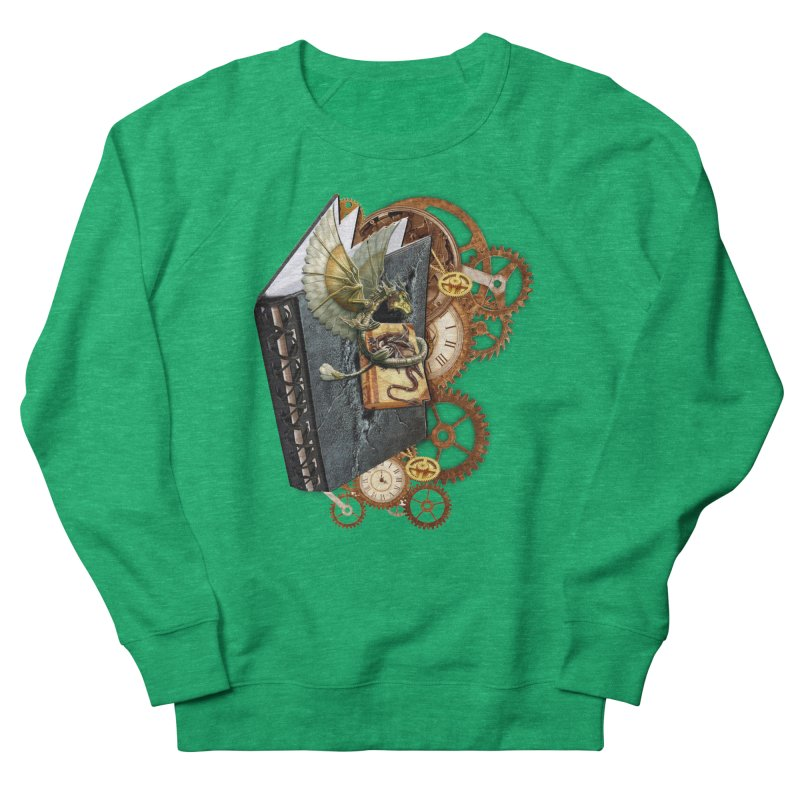 Steampunk Dragon Stories Men's French Terry Sweatshirt by NadineMay Artist Shop