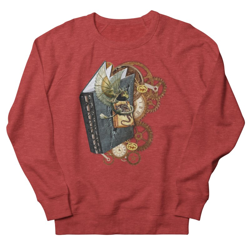 Steampunk Dragon Stories Men's Sweatshirt by NadineMay Artist Shop