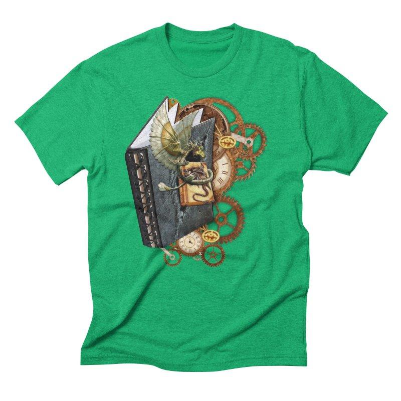 Steampunk Dragon Stories Men's Triblend T-Shirt by NadineMay Artist Shop