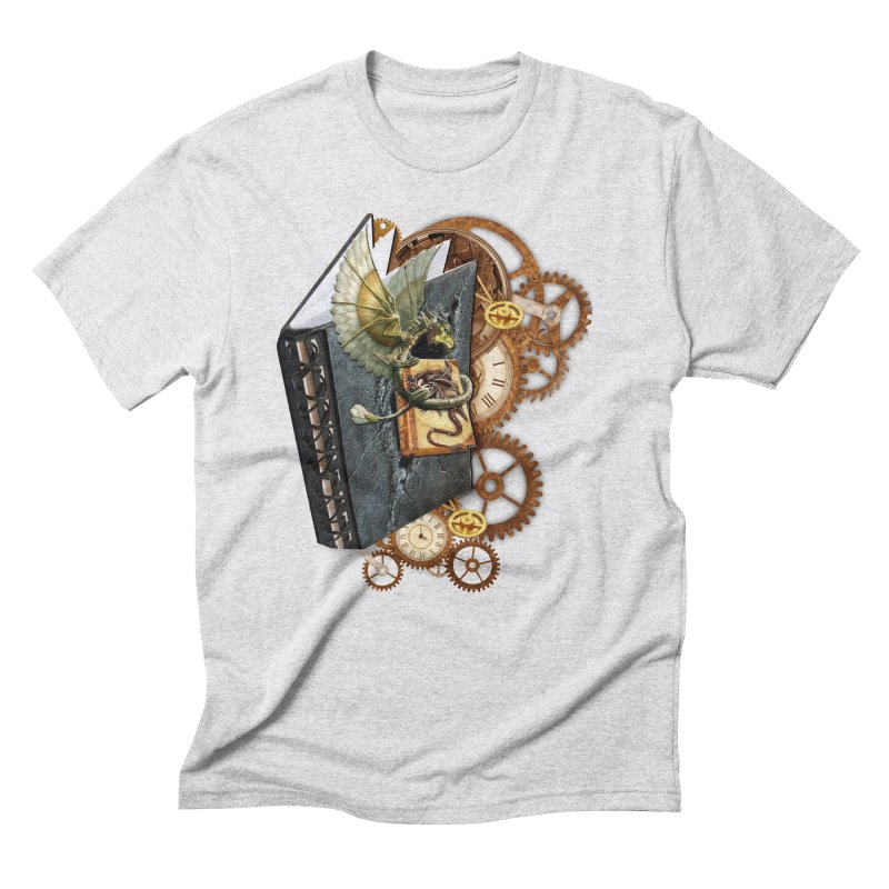 Steampunk Dragon Stories Men's Triblend T-Shirt by NadineMay Artist Shop