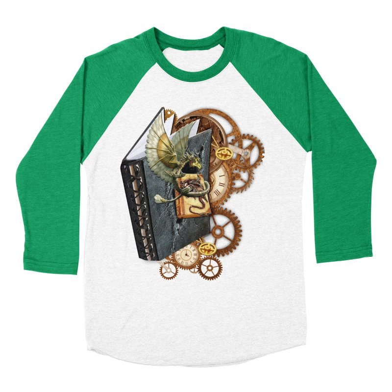 Steampunk Dragon Stories Women's Baseball Triblend Longsleeve T-Shirt by NadineMay Artist Shop