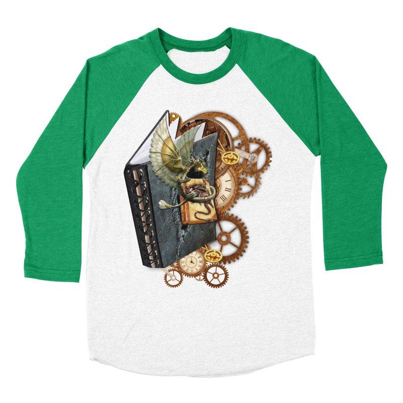 Steampunk Dragon Stories Women's Baseball Triblend T-Shirt by NadineMay Artist Shop