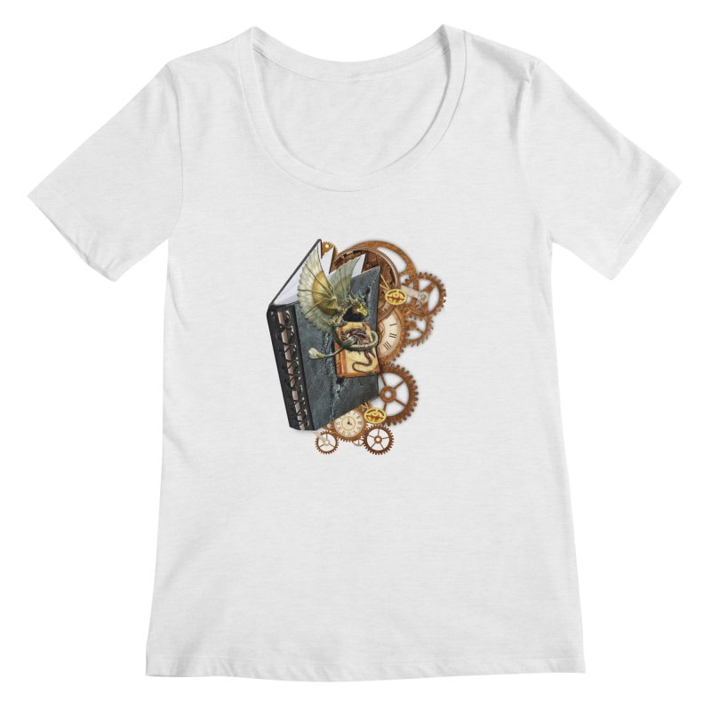 Steampunk Dragon Stories Women's Regular Scoop Neck by NadineMay Artist Shop