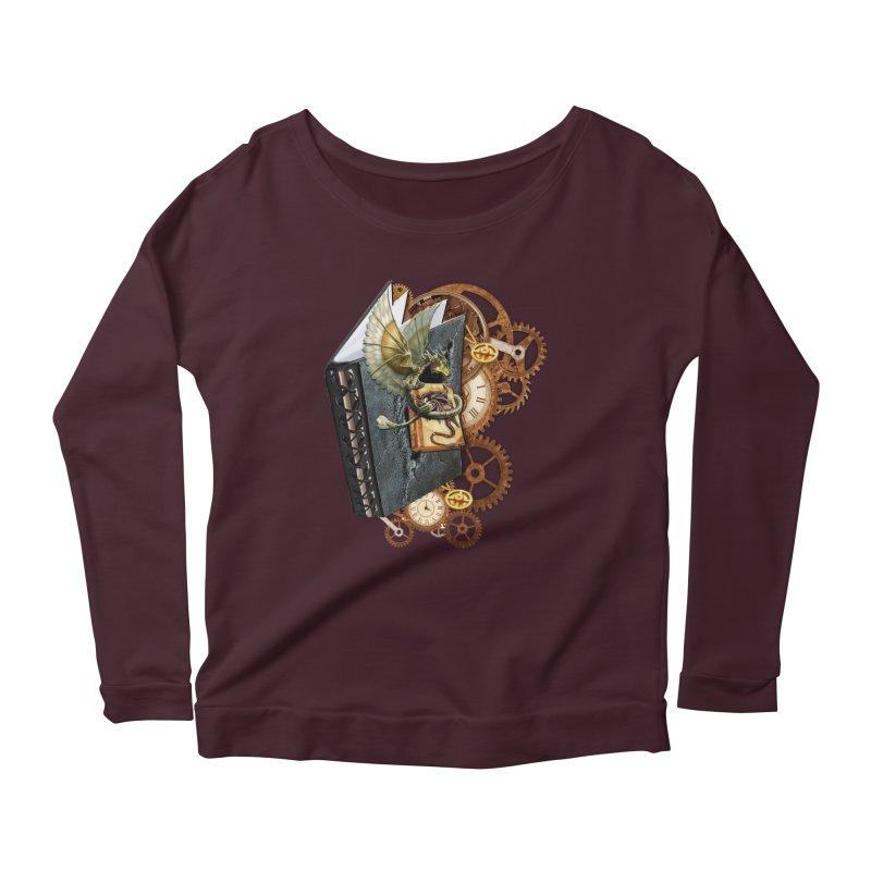 Steampunk Dragon Stories Women's Scoop Neck Longsleeve T-Shirt by NadineMay Artist Shop
