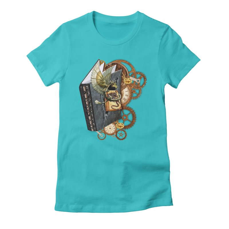 Steampunk Dragon Stories Women's Fitted T-Shirt by NadineMay Artist Shop