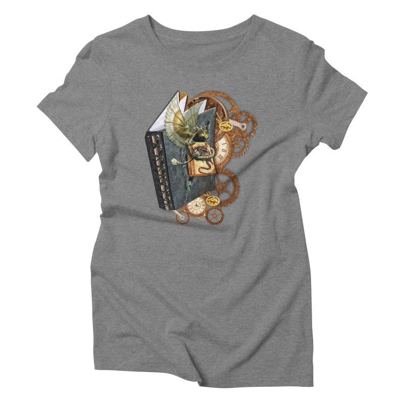 Steampunk Dragon Stories Women's Triblend T-Shirt by NadineMay Artist Shop