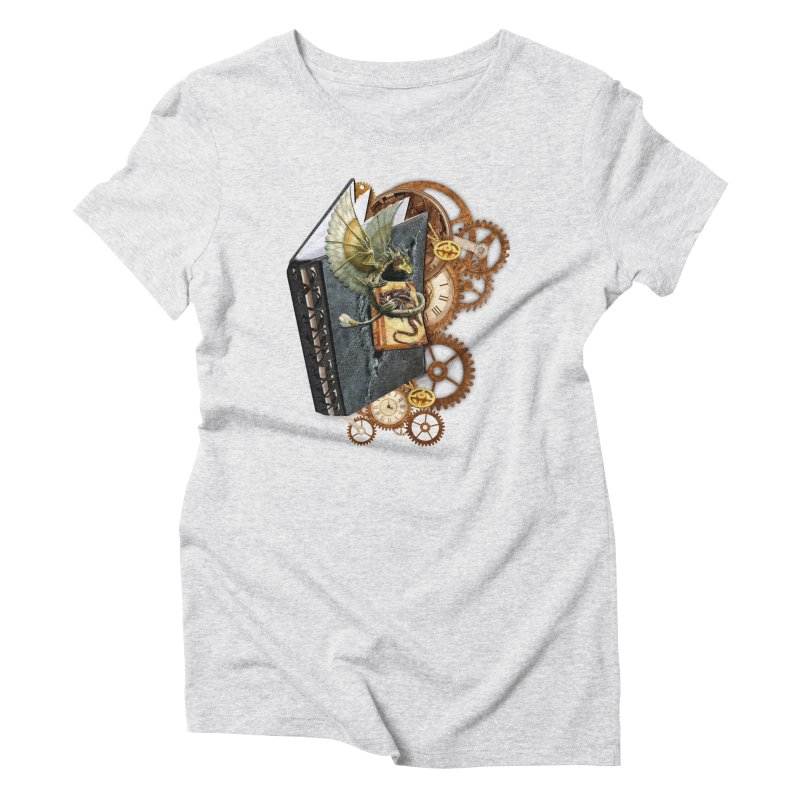 Steampunk Dragon Stories Women's Triblend T-Shirt by NadineMay Artist Shop