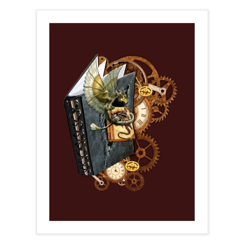 Steampunk Dragon Stories Home Bath Mat by NadineMay Artist Shop
