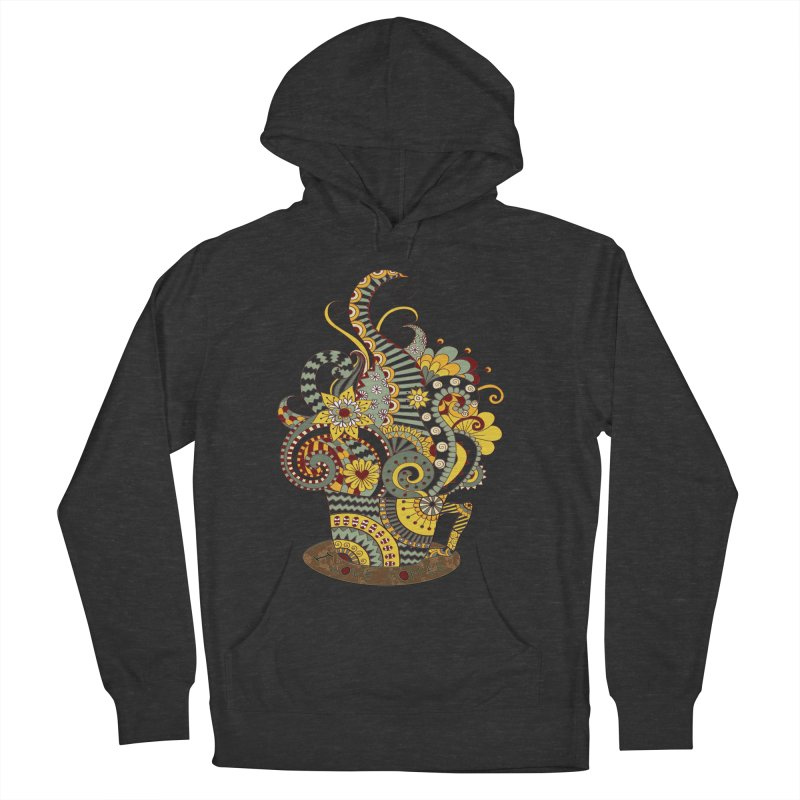 I Love coffee Women's French Terry Pullover Hoody by NadineMay Artist Shop