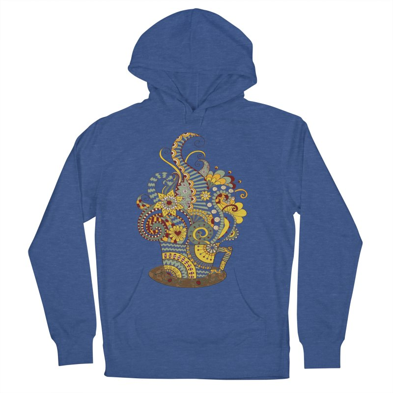 I Love coffee Men's French Terry Pullover Hoody by NadineMay Artist Shop