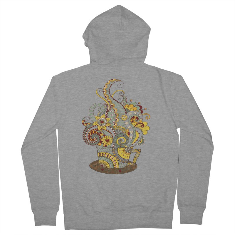 I Love coffee Women's French Terry Zip-Up Hoody by NadineMay Artist Shop