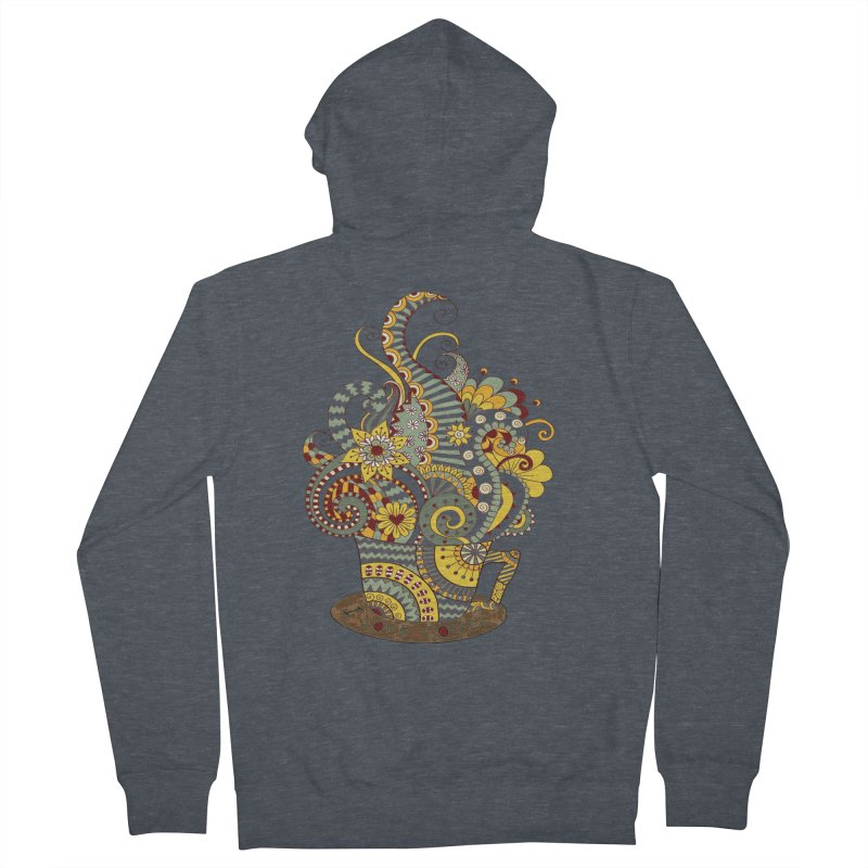 I Love coffee Men's French Terry Zip-Up Hoody by NadineMay Artist Shop