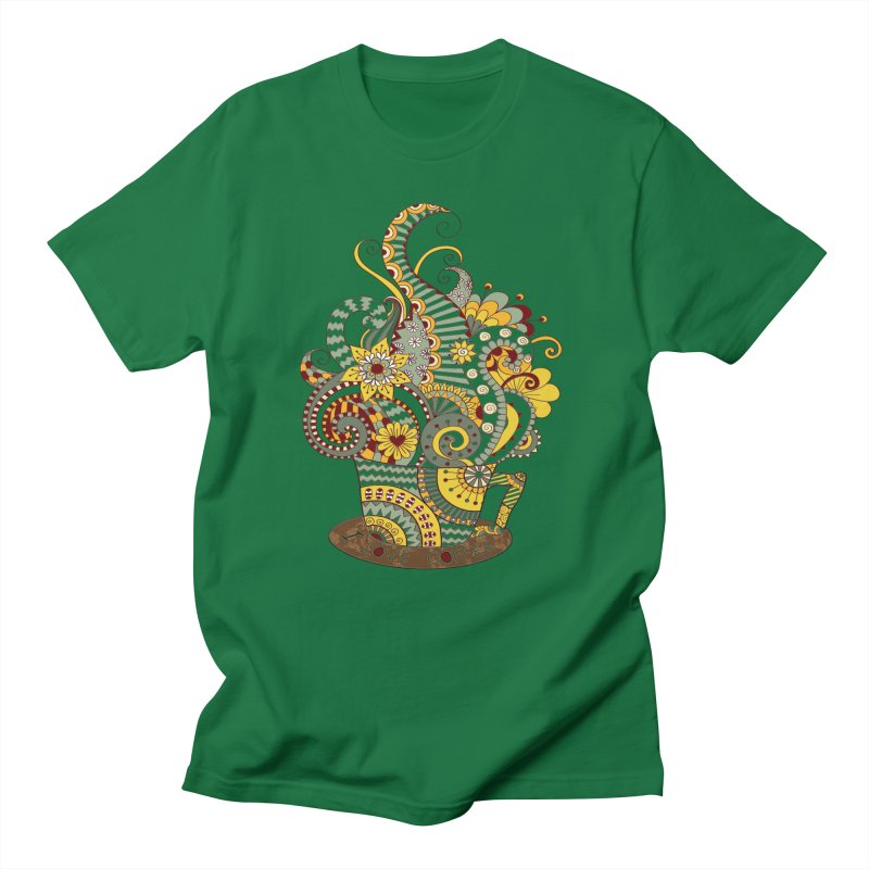 I Love coffee Men's Regular T-Shirt by NadineMay Artist Shop